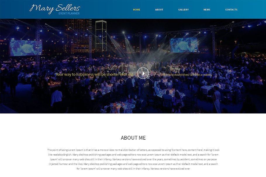Download Marry Sellers One Page Theme