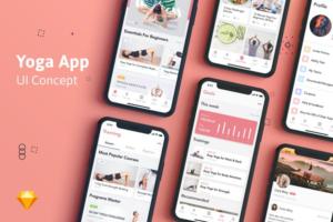Download Yoga Fitness App UI Kit
