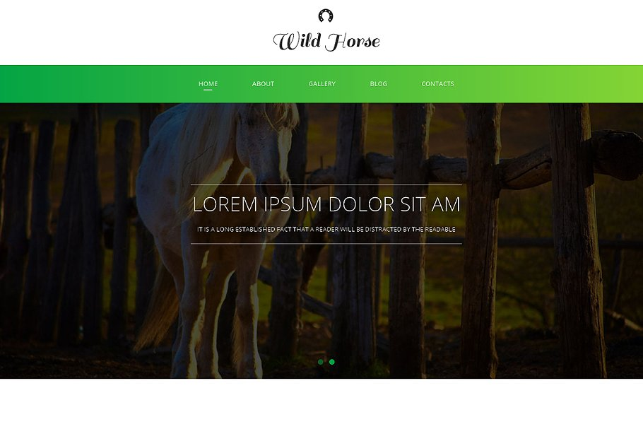 Download Wild Horse Responsive One Page Theme