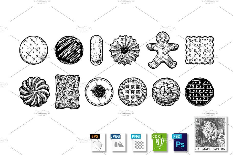 Download Set of different kind of cookies