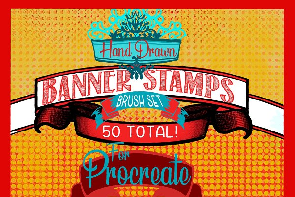Download Banner brush set for procreate