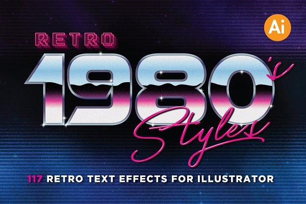 Download 80's Retro Graphic Styles