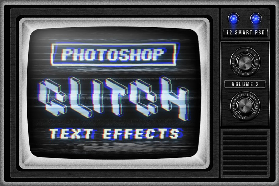 Download Photoshop Glitch text effects Vol.2