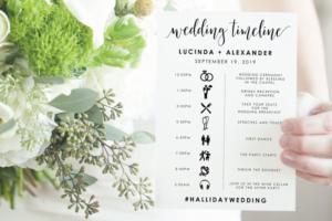Download Wedding Timeline - Editable PDF