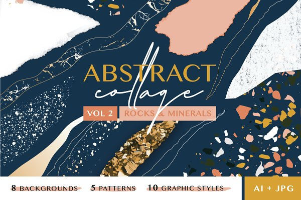 Download Abstract Collage Patterns II (Rock)