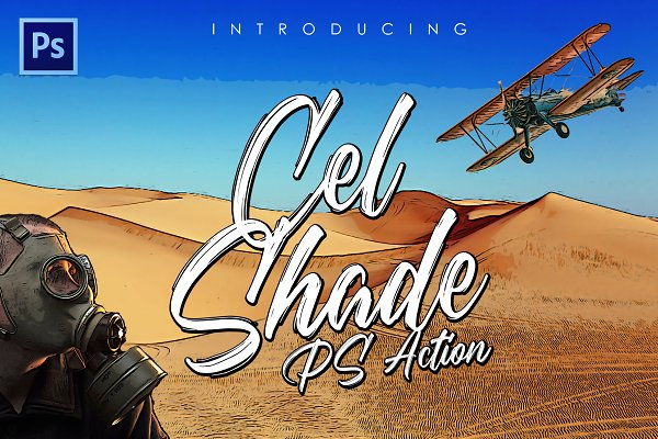 Download Cel-Shading Photoshop Action