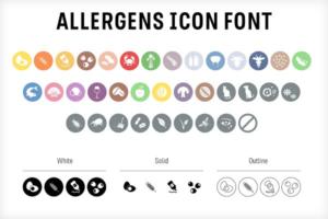 Download Food & Allergen icon font set