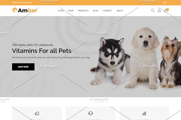 Download Amber - Pet Care Shopify Theme