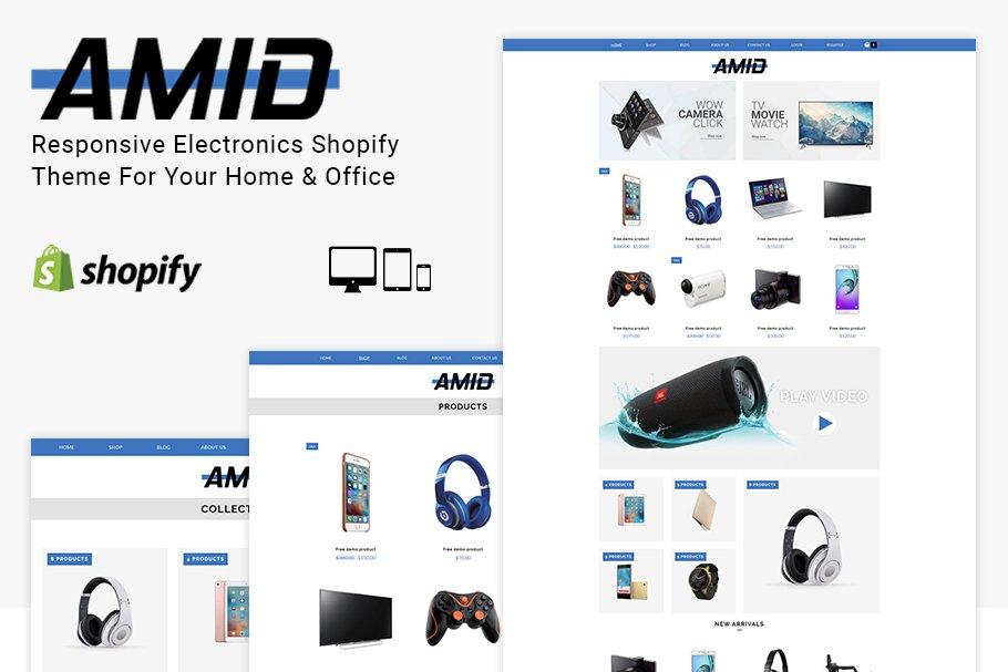 Download Amid Electronics Shopify Theme