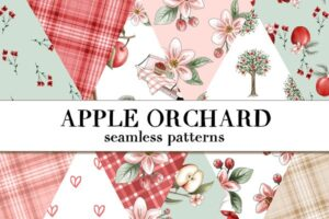 Download Apple Orchard seamless papers