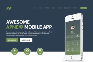 Download Apnew - Landing page WordPress Theme