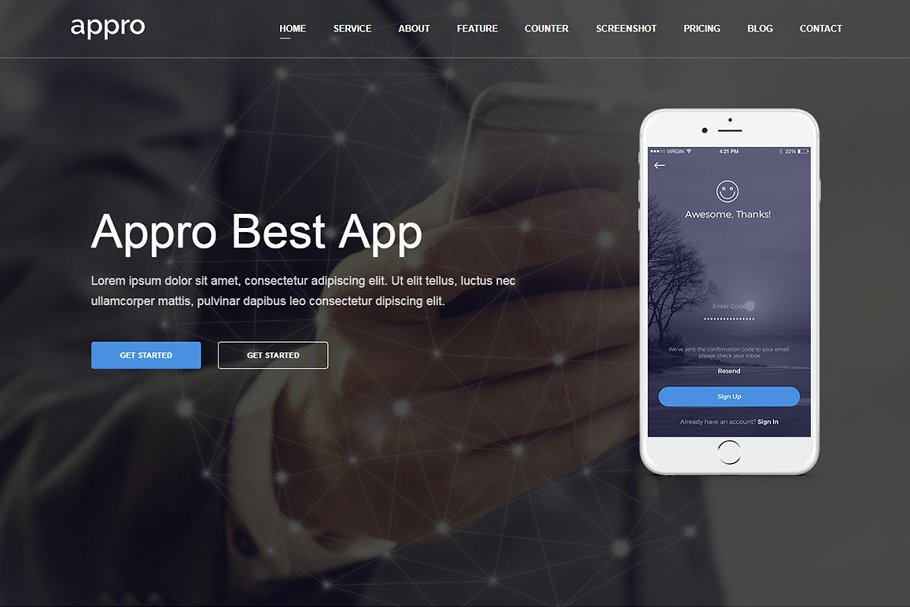 Download Appro - App Landing Page Theme