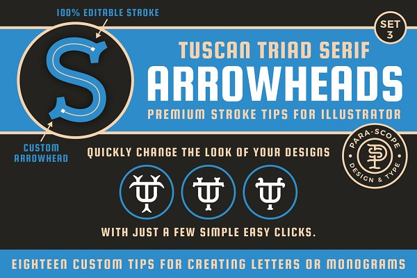 Download Tuscan Triad Serif Arrowheads S3