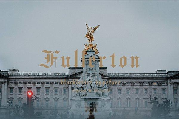 Download Fullerton typeface font