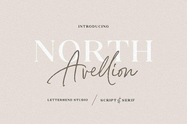 Download North Avellion - Script & Serif Duo