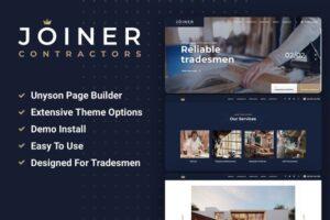 Download Joiner - WordPress Carpentry Theme