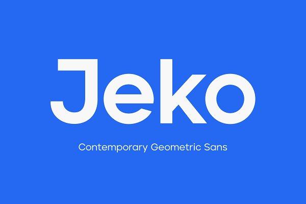 Download Jeko Geometric Sans - Essentials