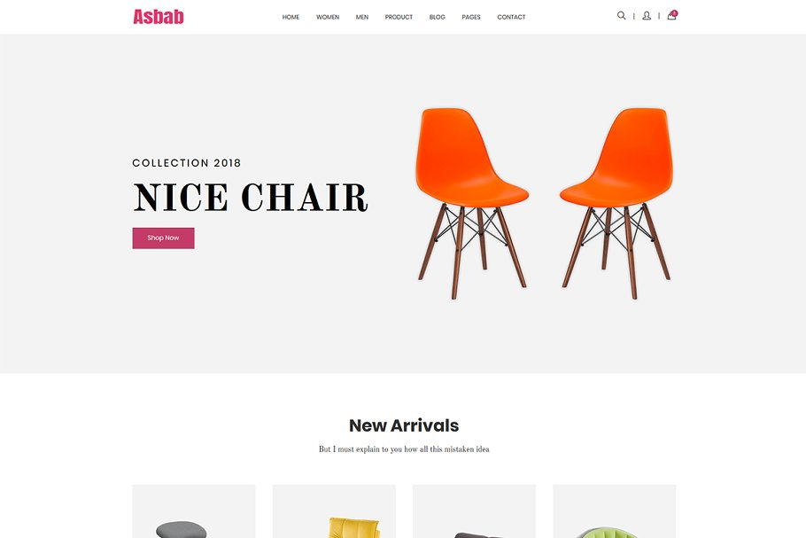 Download Asbab – eCommerce HTML5 Template