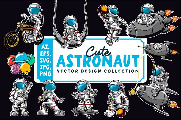 Download Cute Astronaut collection