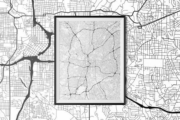 Download Atlanta - Fully Vectored Road Map