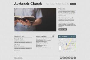 Download Authentic Church - WordPress Theme