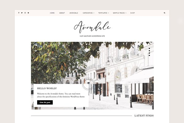 Download Avondale Feminine WordPress Theme