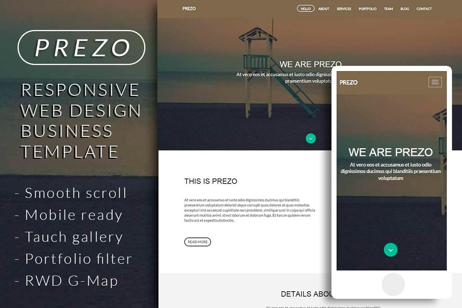 Download PREZO responsive business template