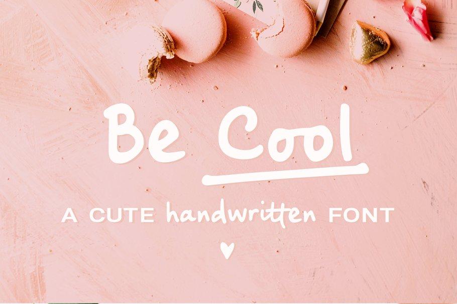 Download Be Cool handwritten sans font