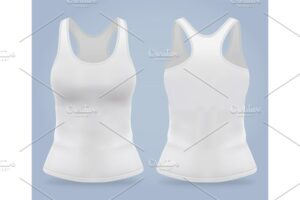 Download Front and back of woman sport t
