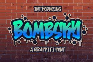 Download Bombsky Graffity Font