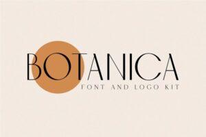 Download BOTANICA - FONT AND LOGO KIT