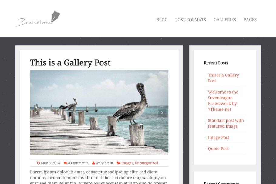 Download Brainstorm - Blog WordPress Theme