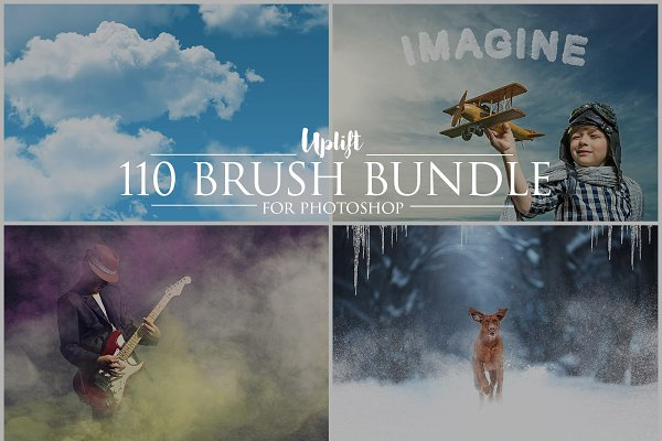 Download SALE! 110 Brush Bundle for Photoshop