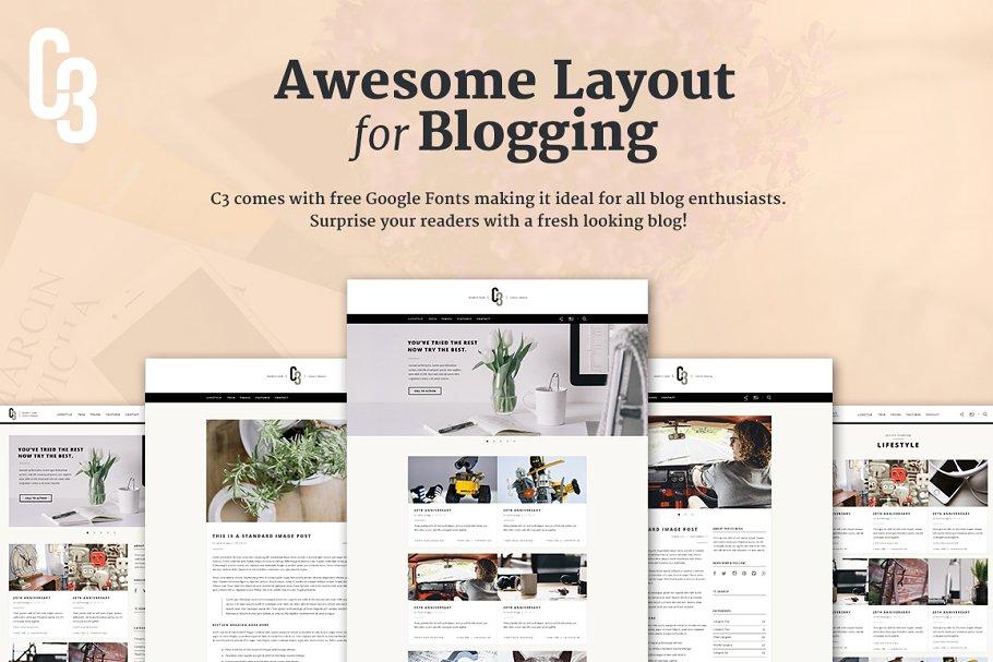 Download C3 - Minimalistic Blog Concept