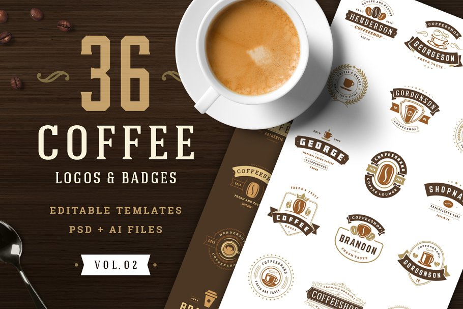 Download 36 Coffee Logos and Badges