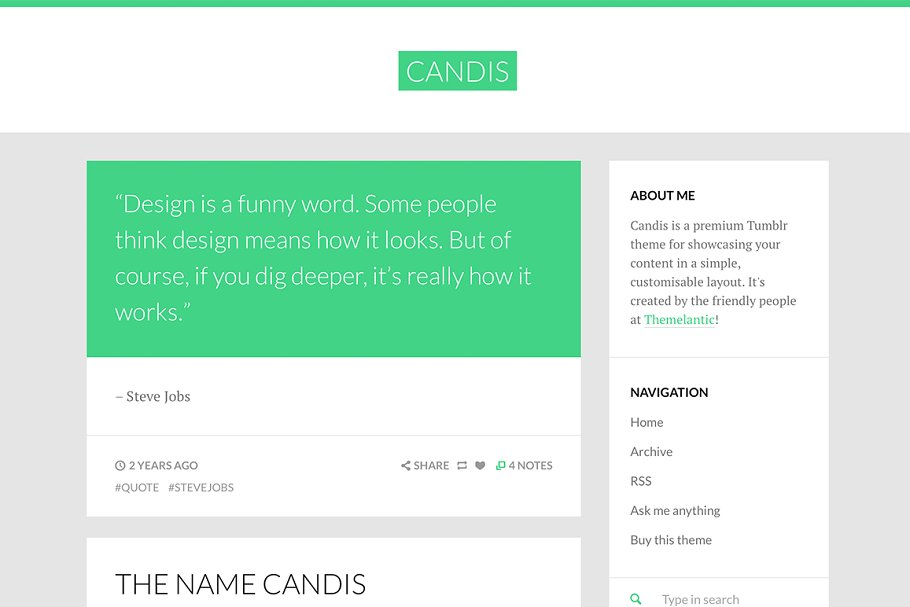 Download Candis Tumblr Theme