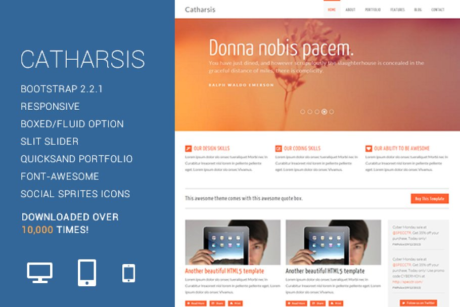 Download Catharsis - Responsive HTML Template