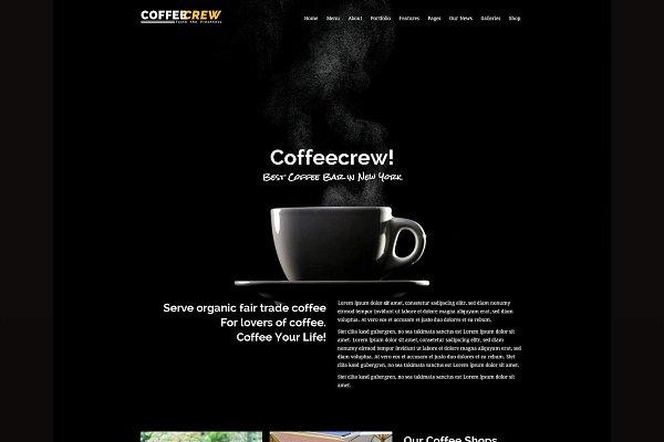 Download Coffeecrew - Coffee Shop WP Theme
