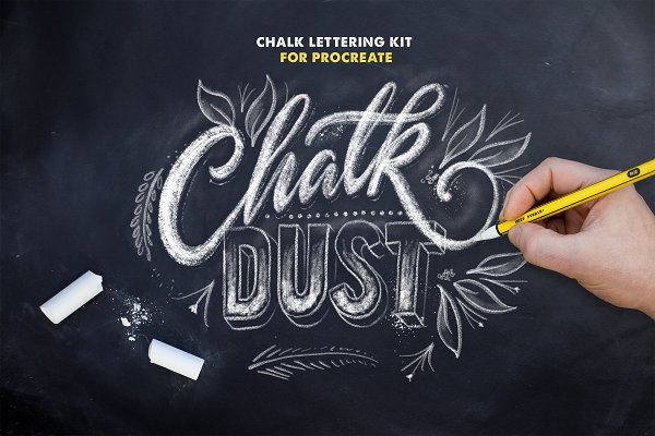Download Chalk Dust - Procreate Lettering Kit