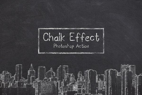 Download Chalk Effect Photoshop Action