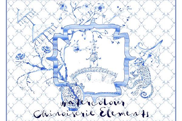 Download Chinoiserie Watercolour Elements