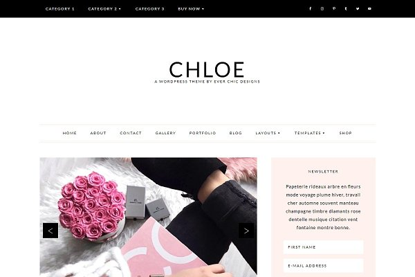 Download Chloe Feminine Wordpress Blog Theme