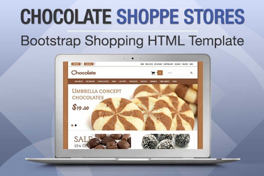 Download Chocolate Shoppe Stores Bootstrap