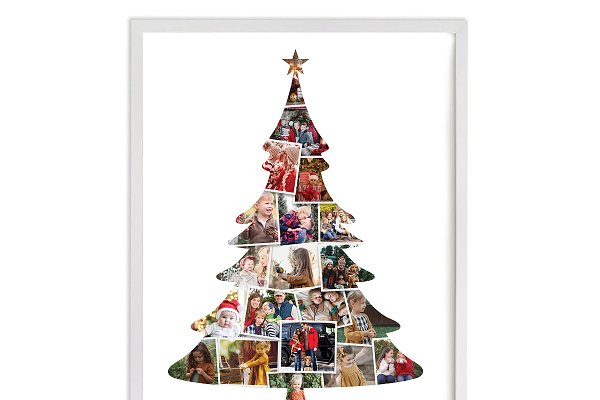 Download Christmas tree photo collage