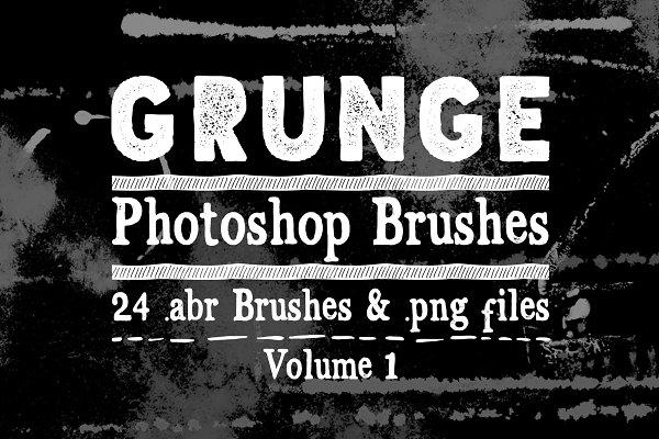 Download Grunge Texture Photoshop Brushes V1