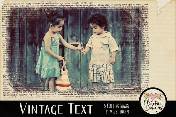 Download Vintage Text Clipping Masks & Tut