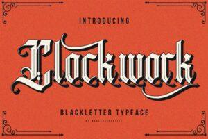 Download Clockwork Blackletter Typeface