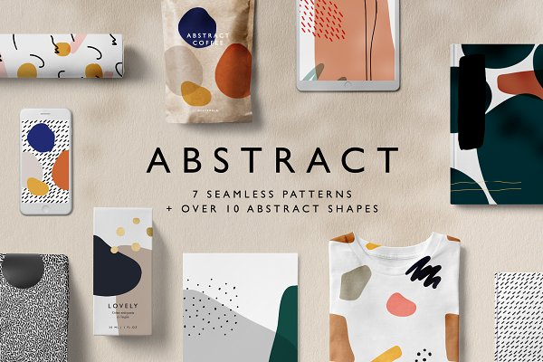 Download Abstract Seamless Patterns + Shapes