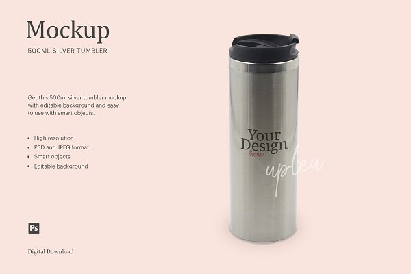 Download Stainless Steel Straight Tumbler