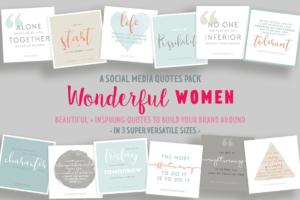Download Wonderful Women Social Media Quotes